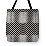 Aluminum Hole Texture Silver Metal Circle Steel Tote Bag