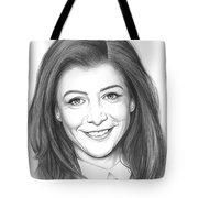 Alyson Hannigan Tote Bag