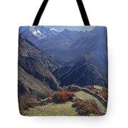 Ama Dablam Nepal In November Tote Bag