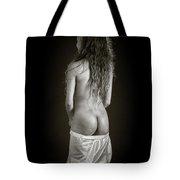 Amani African American Nude Sensual Sexy Fine Art Print In Sepia 4920.01 Tote Bag