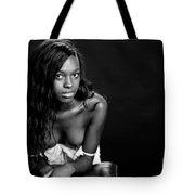 Amani African American Nude Sensual Sexy Fine Art Print In Sepia 4935.01 Tote Bag