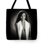Amani African American Nude Sensual Sexy Fine Art Print In Sepia 4980.01 Tote Bag