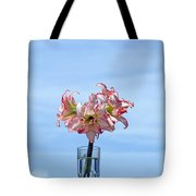 Amaryillis Belladonna Against The Spring Florida Sky Tote Bag