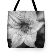 Amaryllis And Tree Frog Painted Bw Tote Bag