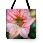 Amaryllis And Tree Frog Painted  Tote Bag