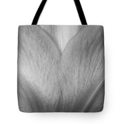 Amaryllis Flower Petals In Black And White Tote Bag
