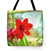 Amaryllis On  The Porch Tote Bag