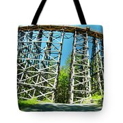 Amazing Kinsol Wooden Trestle Panorama View, Vancouver Island, Bc, Canada. Tote Bag