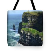 Amazing Look At The Sea Cliff's Of Moher In Ireland Tote Bag