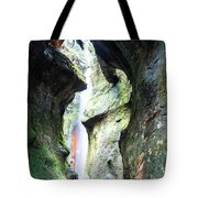 Amazing Vancouver Island Series - Sombrio Cave Waterfall  Inside  Closeup 2. Tote Bag