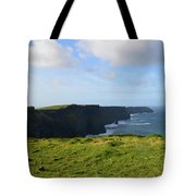 Amazing Views Of The Cliff's Of Moher In Ireland Tote Bag