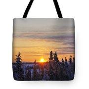 Amazing Winter Sunrise Tote Bag