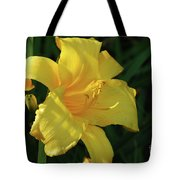 Amazing Yellow Lily Flowering In A Garden Tote Bag