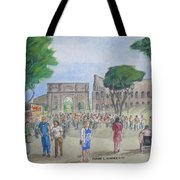 Amber At The Roman Coliseum Tote Bag