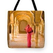 Amber Fort Temple Tote Bag