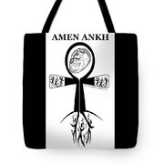 Amen Ankh Bw Tote Bag