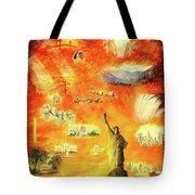 America At Sunset  Tote Bag