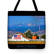 America The Beautiful Poster Tote Bag
