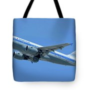 American Airbus A319-0112 N744p Piedmont Pacemaker Los Angeles International Airport May 3 20 Tote Bag