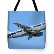 American Airbus A319-112 N745vj Allegheny Vistajet Phoenix Sky Harbor January 19 2016 Tote Bag