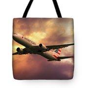 American Airlines 767 N345an Tote Bag