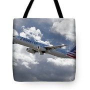 American Airlines Airbus A321 Tote Bag