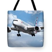 American Airlines Boeing 787 Dreamliner Tote Bag