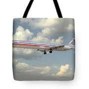 American Airlines Md-80 Tote Bag