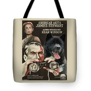 American Akita Art Canvas Print - Rear Window Movie Poster Tote Bag