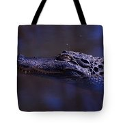 American Alligator Sleeping Tote Bag