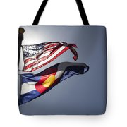 American And Colorado Flags Tote Bag