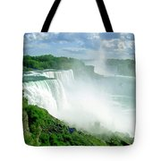 American And Niagra Falls At Niagra Tote Bag