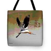 American Avocet Flying Tote Bag