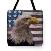 American Bald Eagle And American Flag Tote Bag