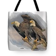 American Bald Eagle Pair Tote Bag by Larry Linton