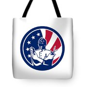 American Barber Usa Flag Icon Tote Bag