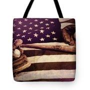 American Baseball Grunge Tote Bag