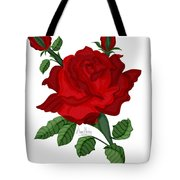 American Beauty Rose Tote Bag