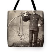 American Bicyclist, 1880s Tote Bag