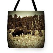 American Bison Vintage 2 Tote Bag