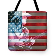 American Bluesman Stevie Ray Vaughan Tote Bag