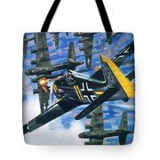 American Bombing Raid Over Europe In July 1943 Tote Bag