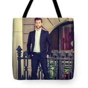 American Businessman With Beard Working In New York Tote Bag