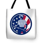 American Coal Miner Usa Flag Icon Tote Bag