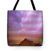 American Country Stormy Night Tote Bag