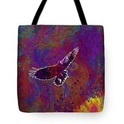 American Crow Flying Ave Fauna  Tote Bag