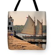 American Eagle At The Lighthouse Tote Bag