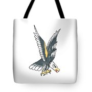 American Eagle Tattoo Tote Bag