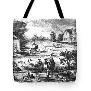 American Farmyard, C1870 Tote Bag by Granger