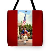 American Fife And Drum Corp Flag Carrier Tote Bag